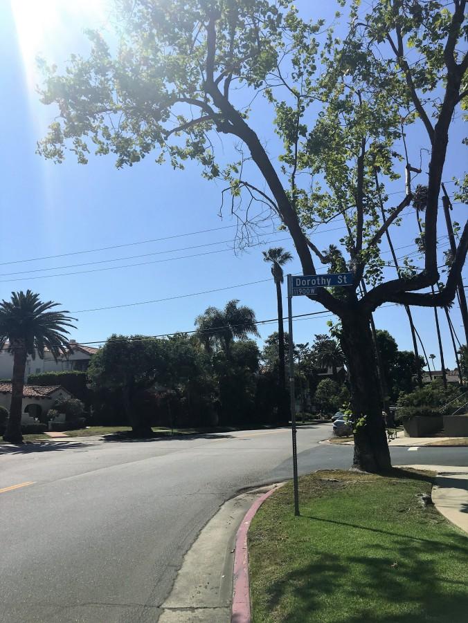 Looking down Bundy - Nicole condo on left behind trees