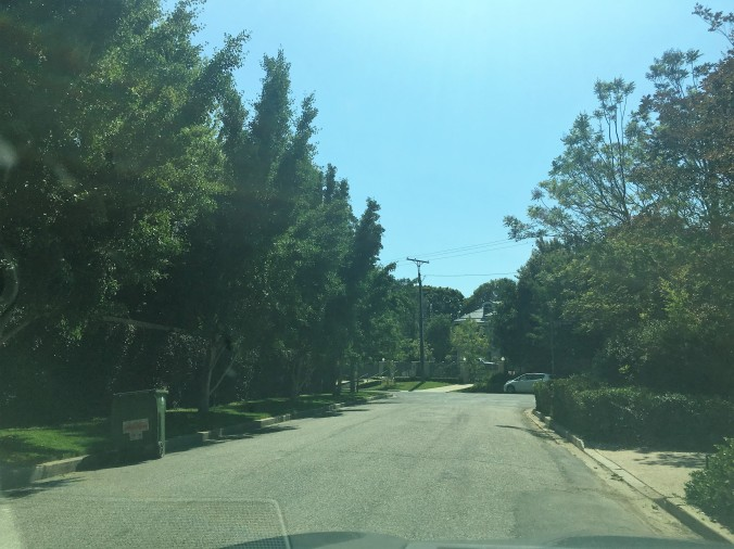 Parked on Ashford looking towards Rockingham, OJ house on left. The original Ashford gate was closer to the corner