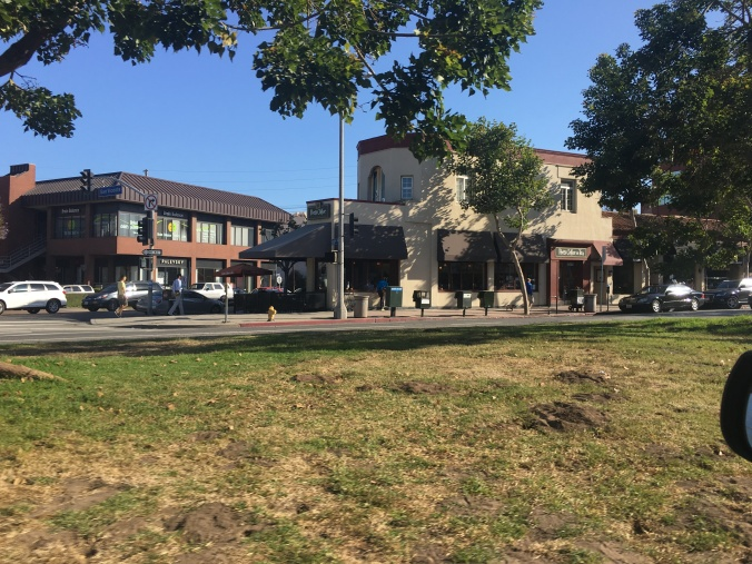 Peets Coffee was formerly Mezzaluna - at corner of San Vicente and Gorham