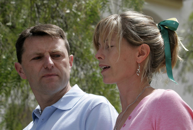 Gerry and Kate McCann address the media regarding their missing daughter Madeleine, in Lagos