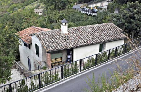 A VIEW OF THE HOUSE WHERE BRITISH STUDENT MEREDITH KERCHER WAS KILLED IN NOVEMBER 2007, IN PERUGIA