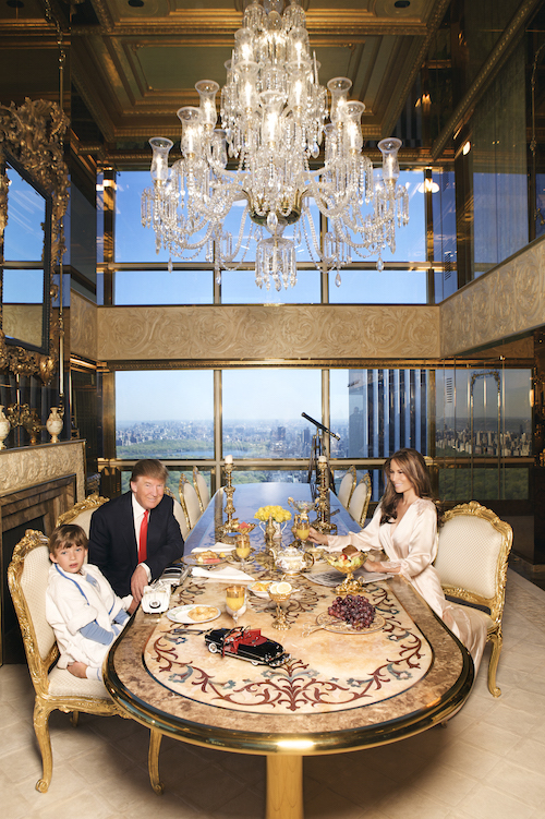 Melania, Donald, And Barron Trump At Home Shoot