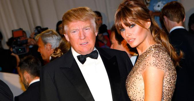 Real estate magnate and television personality Trump and his wife Melania stand on red carpet at Metropolitan Museum of Art Costume Institute Benefit in New York