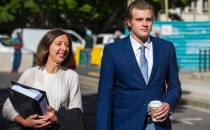 19102016 NETWERK24 Murder-accused Henri van Breda and his girlfriend Danielle Janse van Rensburg arrive at the Cape Town Magistrate's Court on Wednesday to apprear on charges of alleged drug possession. Table View police arrested the couple for alleged dagga possession on September 6, 2016. Van Breda was granted bail of R1 000 and Janse van Rensburg of R200 at their first appearance. The case was postponed last week due to outstanding paperwork. The 21-year-old is out on bail of R100 000 after he was charged with the triple murder of his mother, father and brother at their Stellenbosch home last year. He appeared for a pre-trial hearing in September. He stands accused of axing to death his parents Martin, 54, and Teresa, 55, and his brother Rudi, 22, in their home on the De Zalze golf estate in the early hours of Tuesday, January 27 2015. photo: Jaco Marais