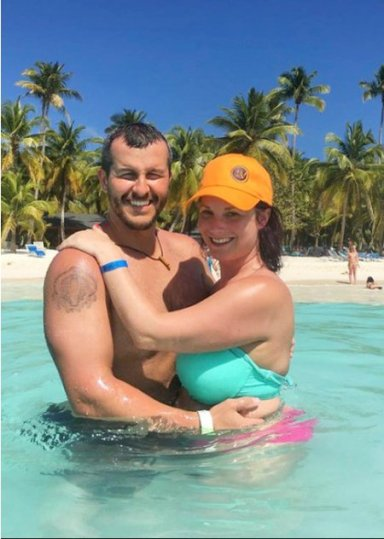 Shanann Watts and husband Christopher Watts, Hard Rock Hotel & Casino in Punta Cana, Dominican Republic, from Cristina Meacham facebook page, posted Feb 2017 no credit